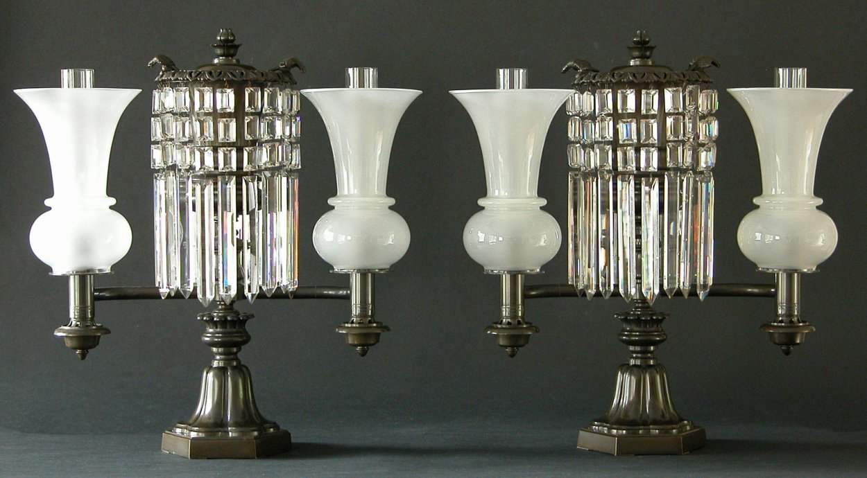 A Pair Of Argand Lamps