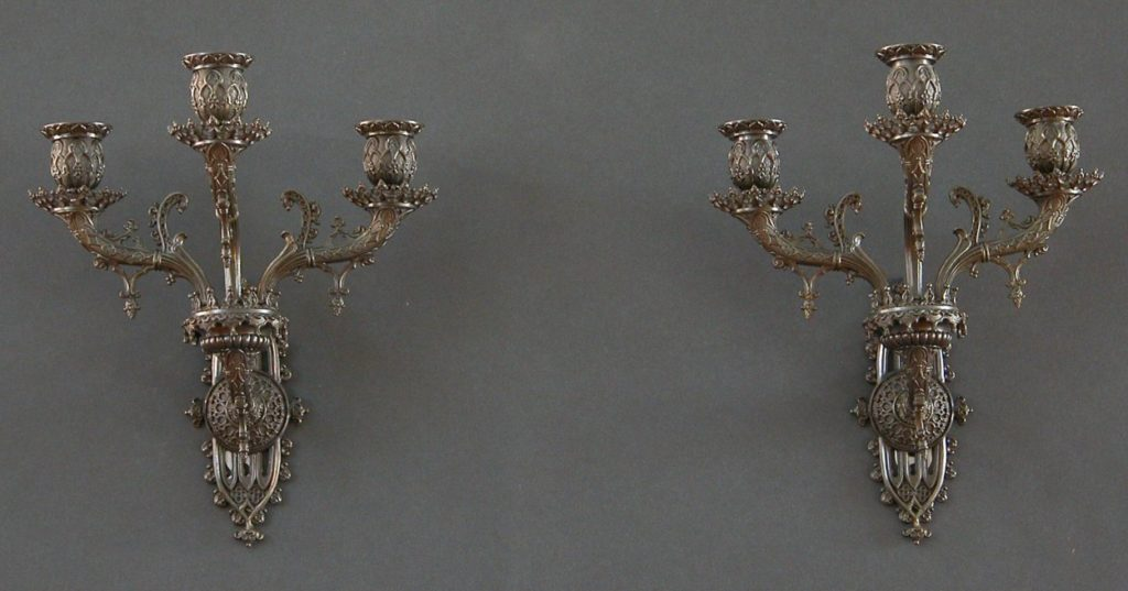 A Pair of Gothic Revival Hall Chairs - Charles Clark