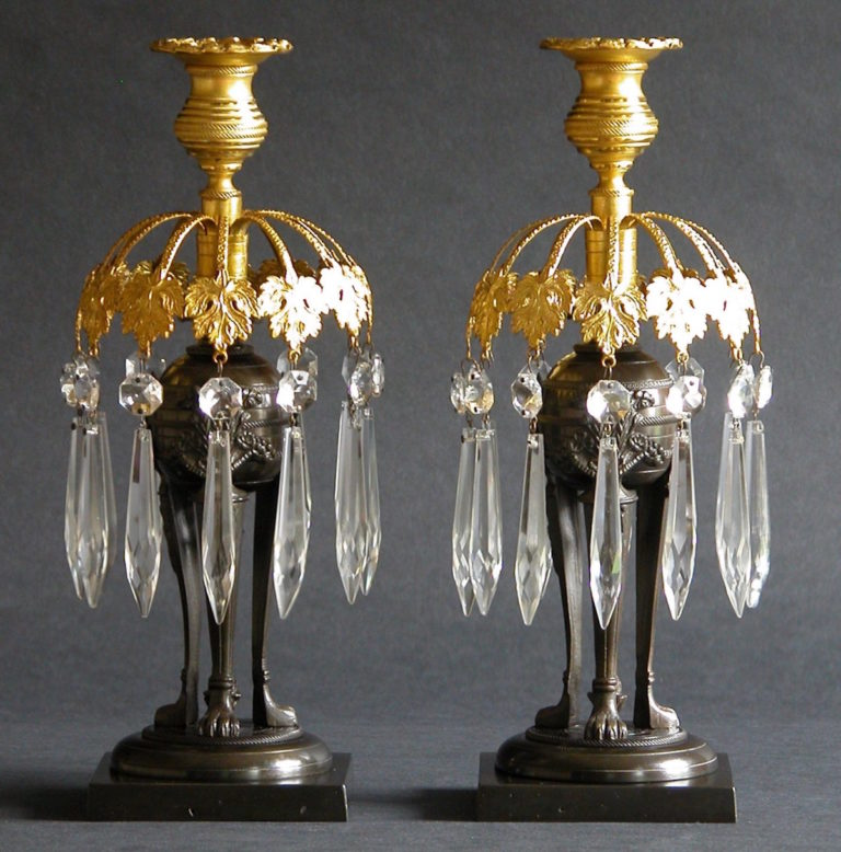 A Pair of Classical Candelabra - Charles Clark